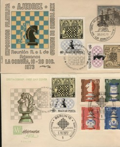 Chess postage stamps