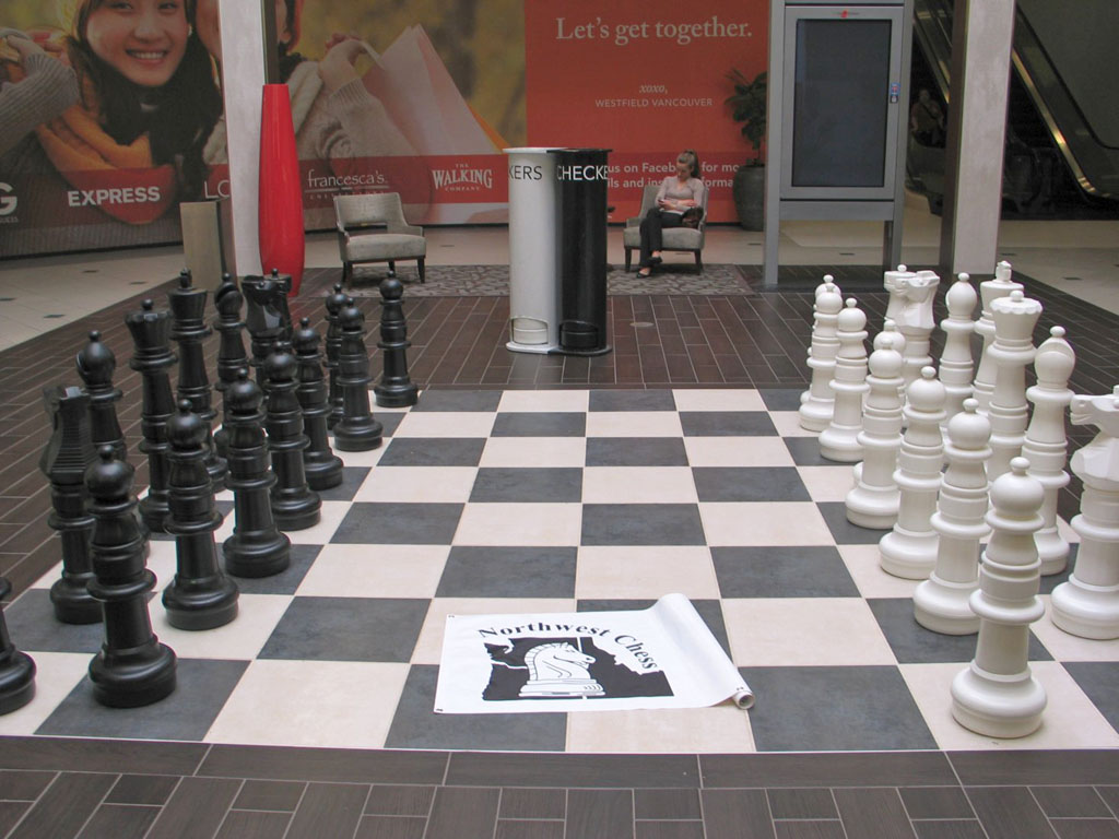 NORTHWEST CHESS Banner at Westfield Vancouver WA Mall.