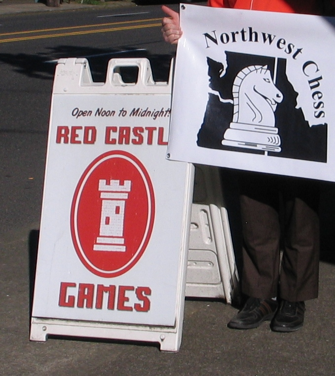 Sean Tobin holding NWC Banner but face is in a shadow so cropped him out.