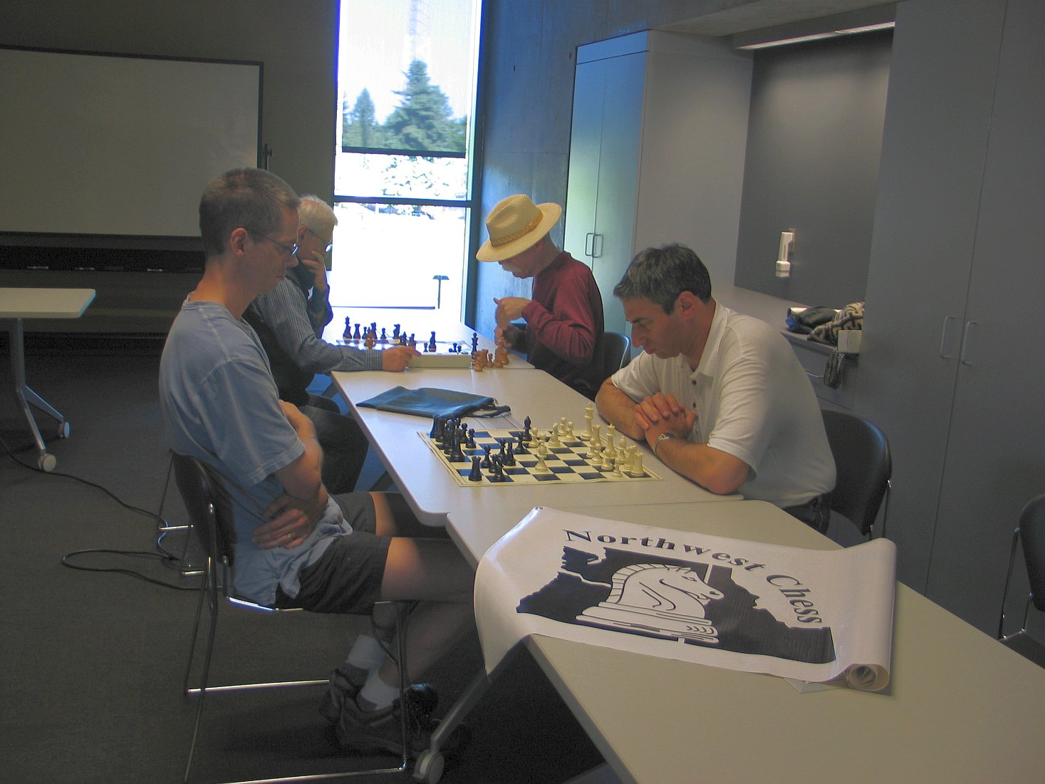 NWC Banner Visits the Vancouver Washington Chess Club on May 20, 2013.