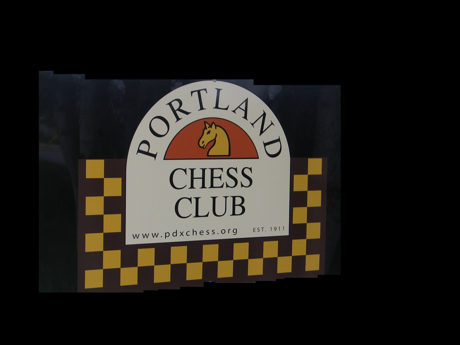 Portland Chess Club Sign