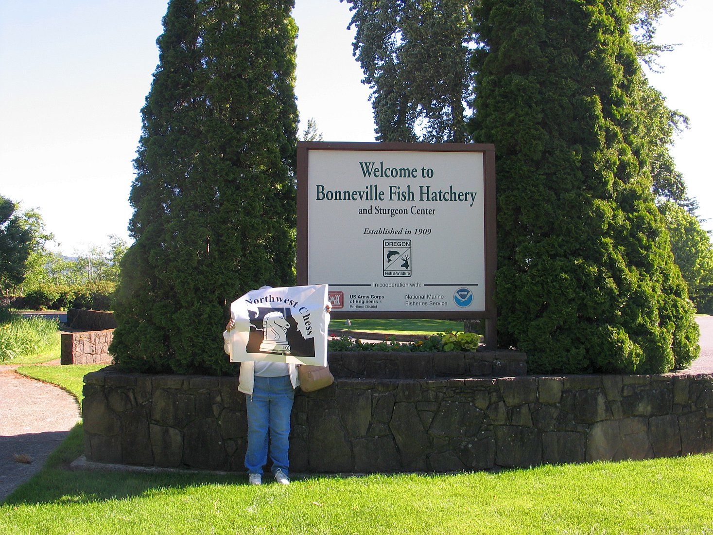 NWC Banner visited Bonneville Fish Hatchery on June 8, <a href=