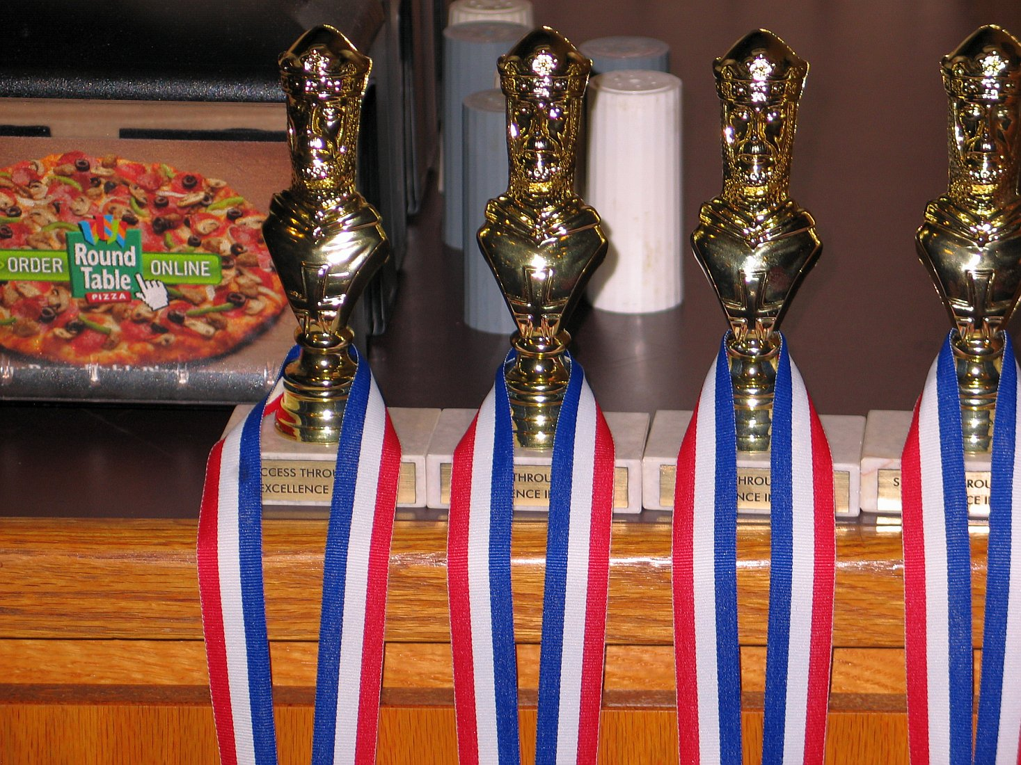Trophies for quad winners.