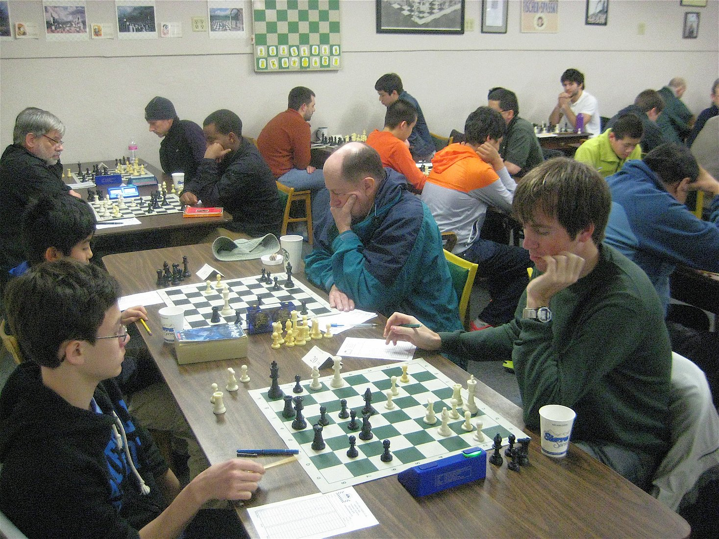 The Portland Chess Club during the 2014 Portland Spring Open. Photo Credit: Brian Berger