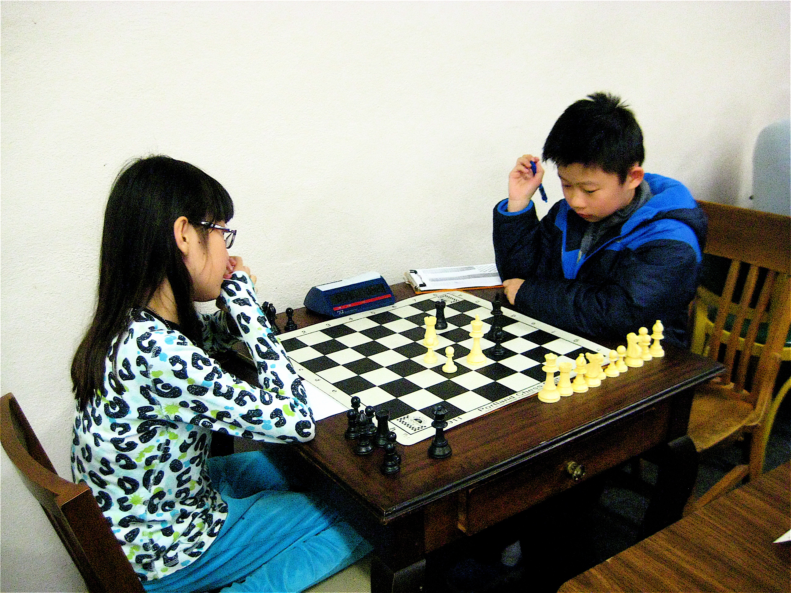 Couple of young players at the event. Megan Cheng and Marcus Chi-Kin Leung