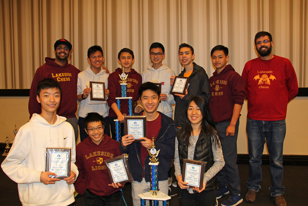 Lakeside Chess Team at 2016 National High School Championship.
